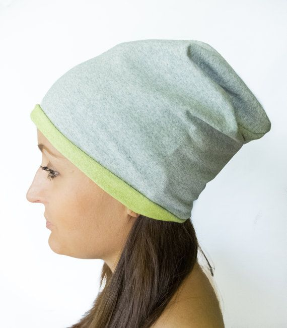 Gray slouchy hat gray Beanie Hat Hipster Beanie by Jousilook