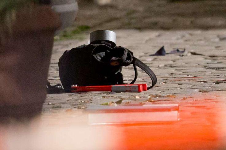 De rugzak van de aanslagpleger in Ansbach. In de tas van de aanslagpleger zaten metalen scherpe voorwerpen, mogelijk om…