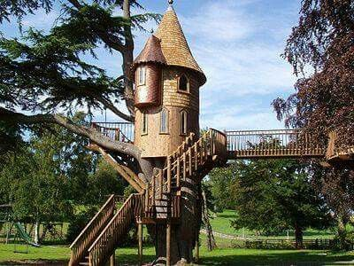 cedar spire is listed or ranked 8 on the list the coolest treehouses in the world - Most Expensive Tree House In The World