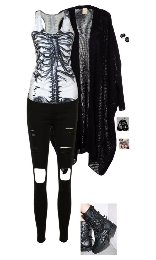 """Untitled #609"" by julia-gyure ❤ liked on Polyvore featuring emo, Punk and goth"