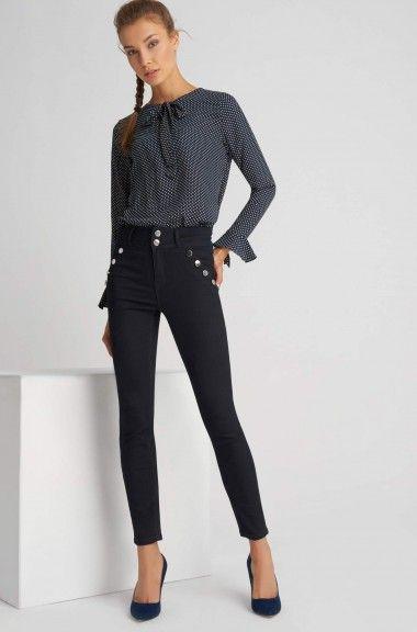 Pantaloni cu talie înaltă tip jeggings