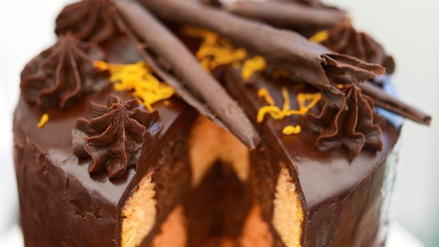 Chocolate and Orange Checkerboard Cake (Great Australian Bake Off)