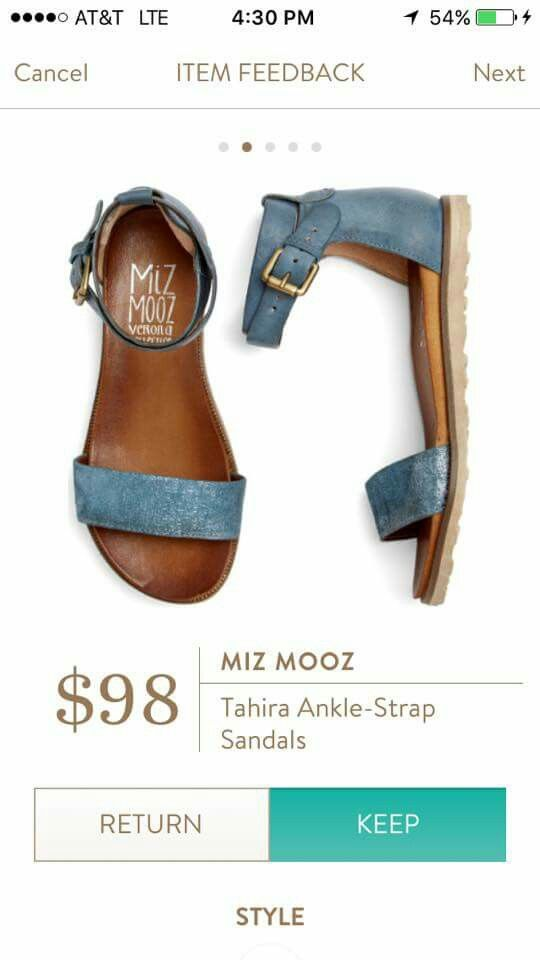 Miz mooz tahira ankle strap sandal Cute, maybe a different color though?