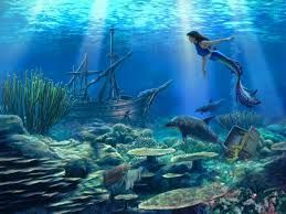 Image result for Treasure chest under the sea