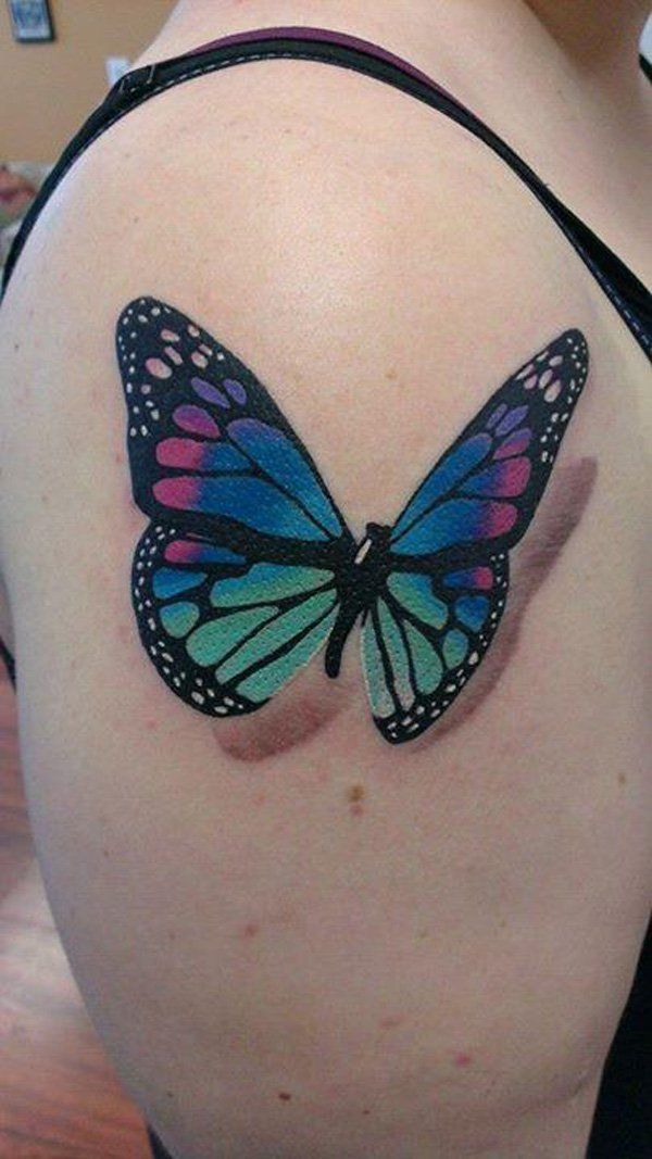 45+ Incredible 3D Butterfly Tattoos | Beautiful, Flower ...