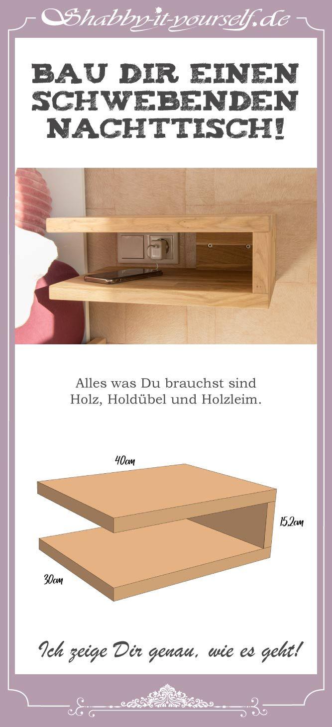 Bau Dir einen schwebenden Nachttisch – So geht&#39…