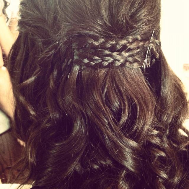 Prom Hair Curls Braids Formal Semi