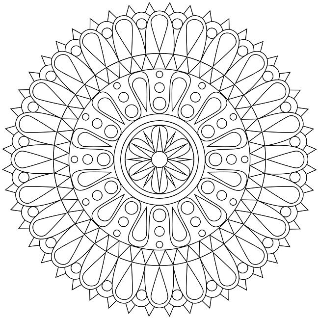 Printable mandala coloring pages for adults free printable