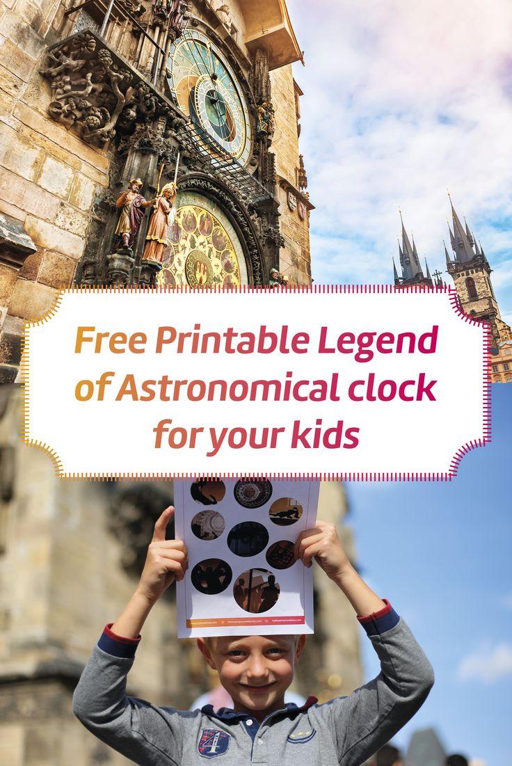 Prague Old Town I Prague with family I Traveling Prague I Prague with kids I Free Printables I Prague Astronomical Clock I Prague Fun Facts
