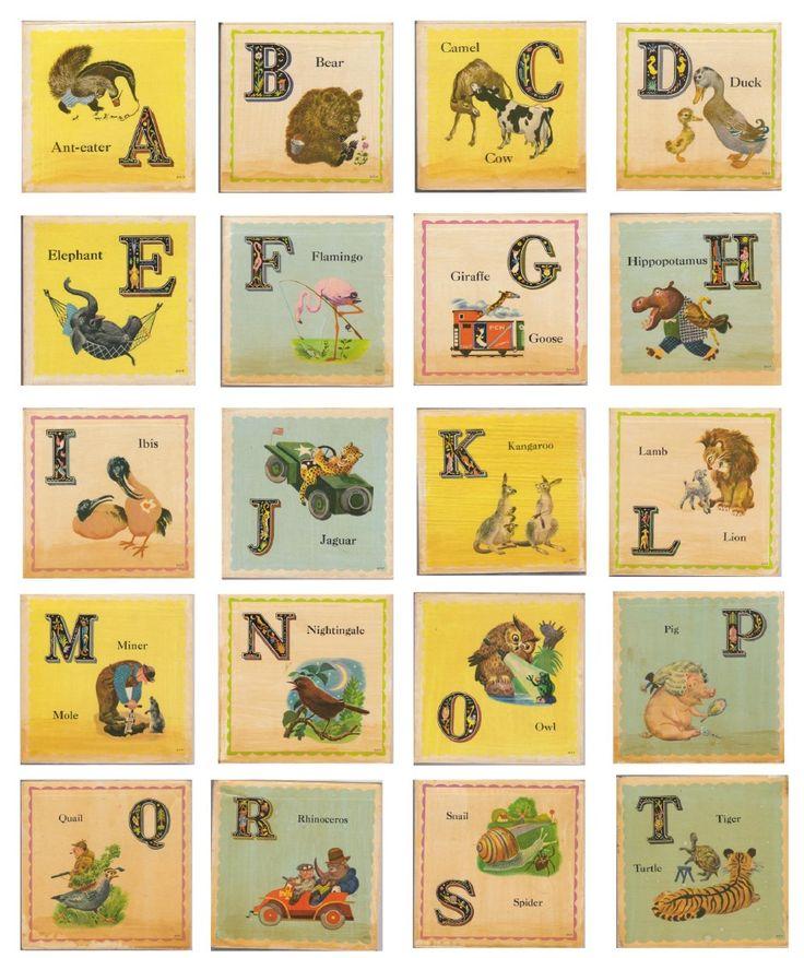 vintage alphabet blocks free #printables