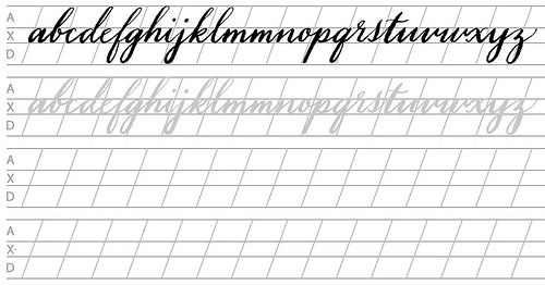 It's just a picture of Trust Free Printable Calligraphy Worksheets