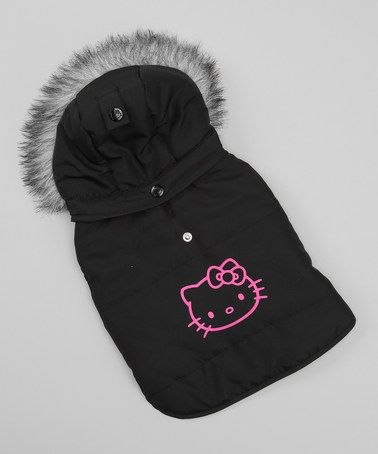 My Sophie MUST MUST have this!! Take a look at this Black Dog Puffer Coat by Hello Kitty Pet Apparel on #zulily today!