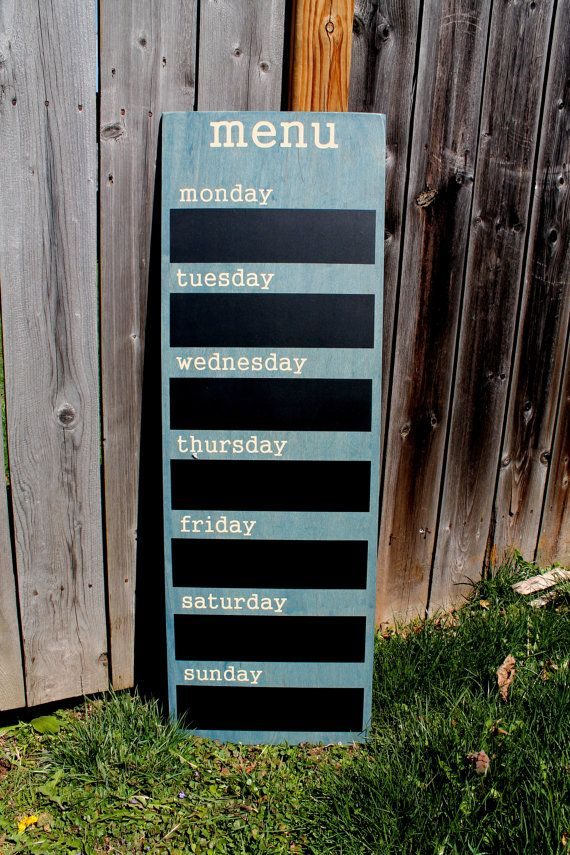 Menu Board - Chalkboard Family Weekly Menu Planner What a great way to keep your…