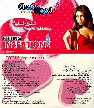 Classic Mood fitting insertion 4 pills pack 03437511221 vagina tightening