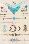 LUCLUC Powerful Totem Gilding Waterproof Metallic Temporary Tattoo - LUCLUC