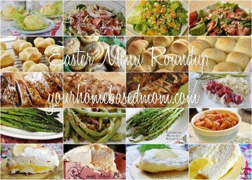 Easter menu ideas . . .