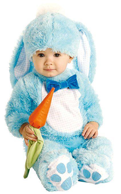 Süßes Blaues Hasenkostüm~Baby~Jungen~Karneval~Ostern Gr. 80 - 86 Größe Small