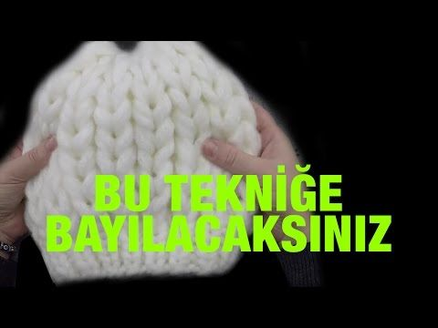 Kabartmalı Yan Örgü Modeli - YouTube