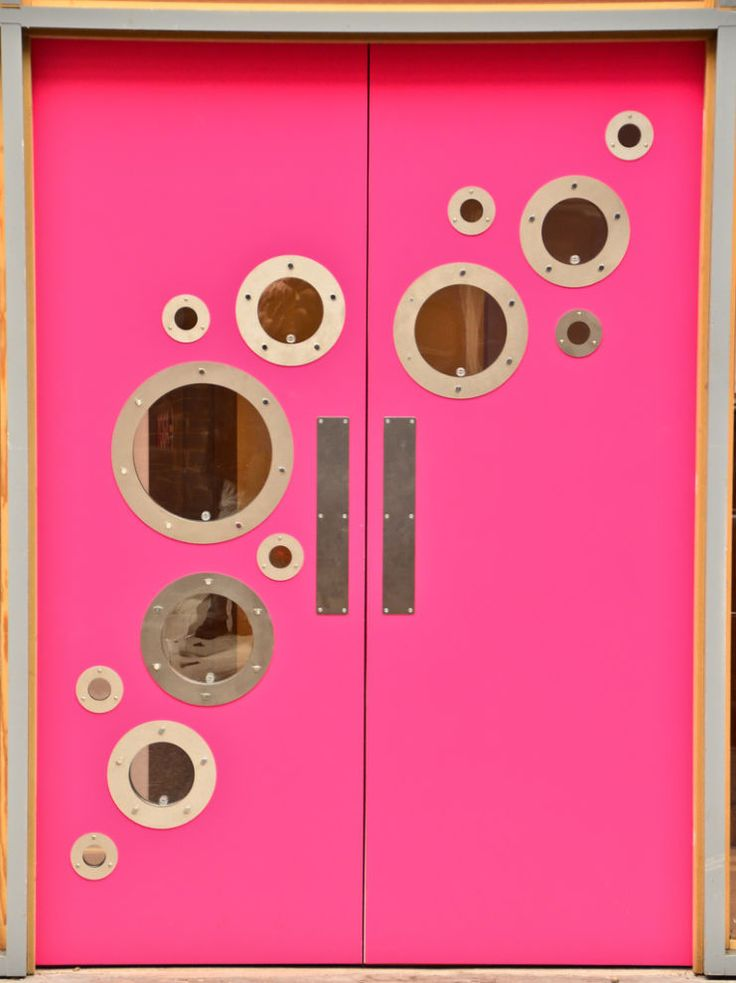 Pink is the new black! Spice up your restaurant's kitchen doors, ASAP!