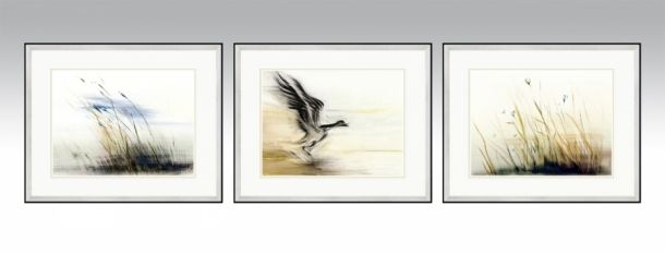 Mix series 2 in a silver frame and light double passe-partout (Option 1).