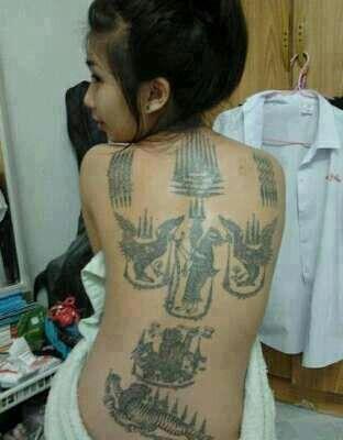 Woman Thai Tattoo E2 9d 87thai Style E2 9d 87sak Yant Pinterest Tattoos Thai Tattoo  E0 B9 81 E0 B8 A5 E0 B8 B0 Sak Yant Tattoo