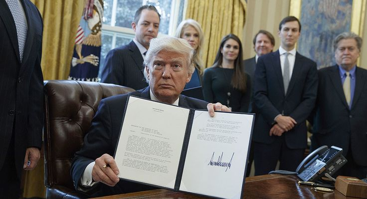 President Donald Trump has signed executive orders to move the Keystone XL and Dakota Access (DAPL) pipelines forward, months after they were rejected and put on hold, respectively.