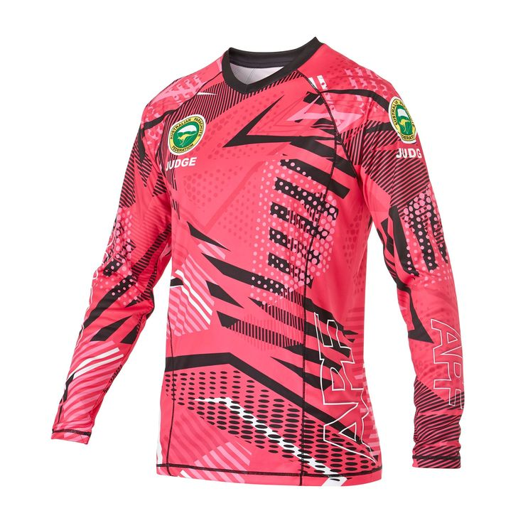 Infinite Skydiving Jersey in Pink colorway — at Manufactory Apparel.  — Products shown: Infinite Skydiving Jersey for Australian Skydiving Team Judges #customskydivingjerseys #getintoskydiving #skydive #jerseys http://www.manufactoryapparel.com/