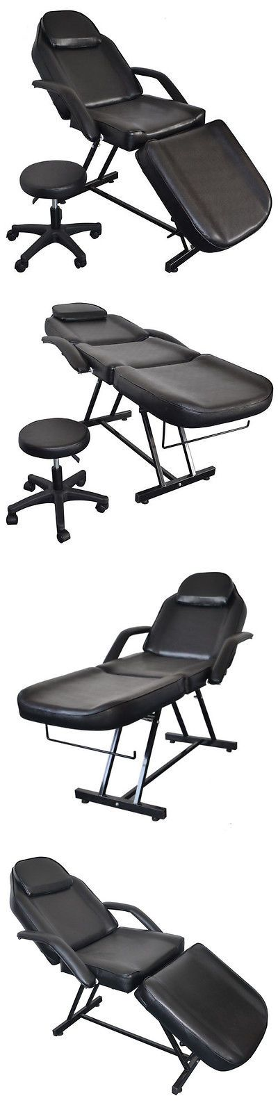 Salon Chairs and Dryers: Beauty Barber Chair With Stool Facial Tattoo Chair Massage Bed Salon Equipment -> BUY IT NOW ONLY: $202.5 on eBay!