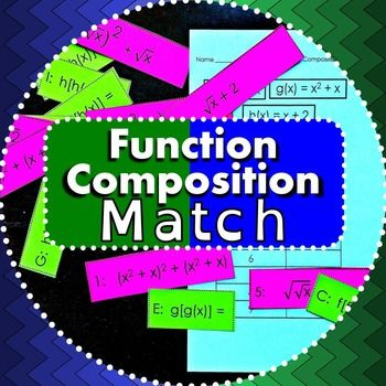 This activity is a good introduction to function composition. There are three functions - a linear, a quadratic and a radical - that each compose with each other and with themselves. After matching the compositions to their notations, students record their answers on the included answer sheet. An answer key is also included.
