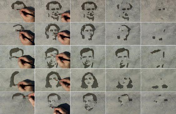 Oscar Muñoz- Dibujo con agua