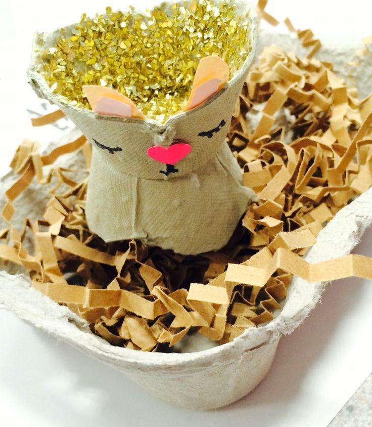 #crafteeki bunny and glitter