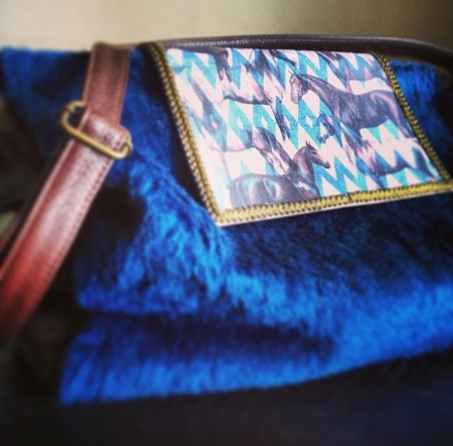 "Skip work, it's Monday, come for a ride in a soft sea of electric blue... ""Sunday"" shoulder bag detail, dedicated to #SundaySilence <3  at www.efidolcini.com"