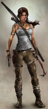 A conceptual render of Lara Croft in the Tomb Raider reboot.