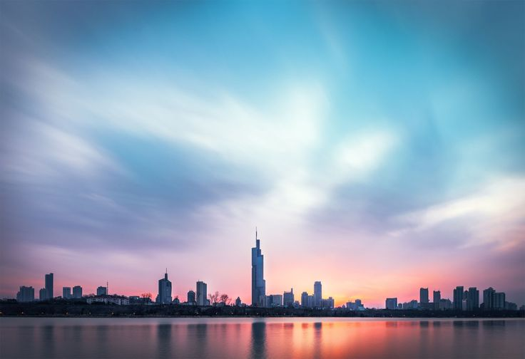 Skyline of Nanjing by CyanVision K.X.CHEN