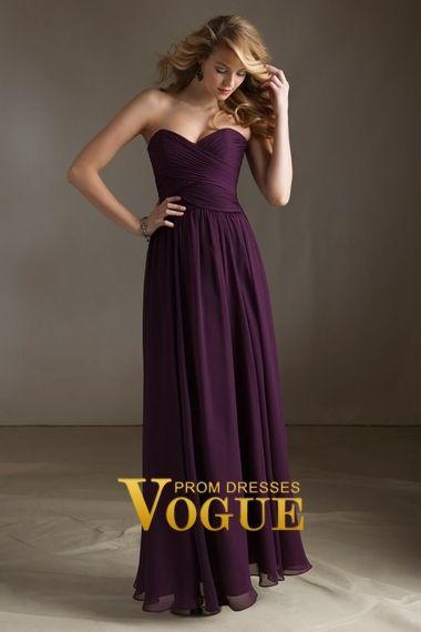2013 Bridesmaid Dresses Cheap Bridesmaid Dresses Purple Sweetheart Floor Length Item Code: P45HK8JX  voguepromdresses.com