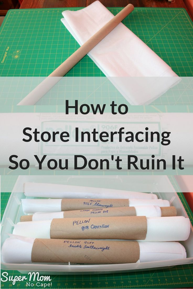 How to Store Interfacing So You Don't Ruin It! This simple, inexpensive storage…