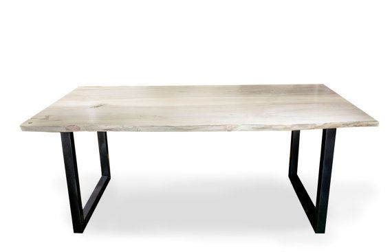 Industrial teble natural ash loft table by ProjektCacko on Etsy