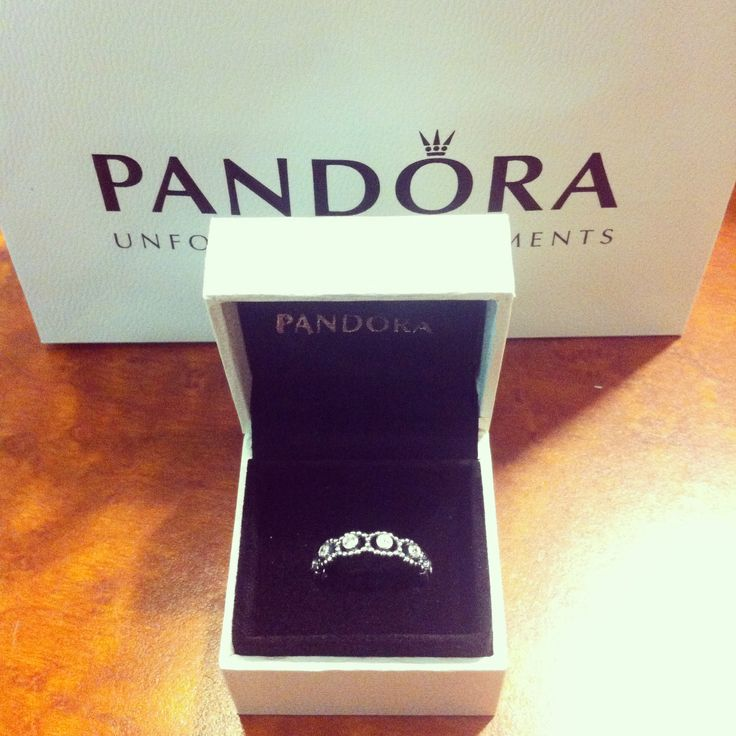 My boyfriend andrew got me a new pandora 'promise' ring since my other one