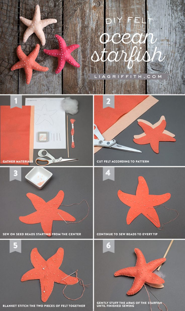 DIY Tutorial Felt Starfish from MichaelsMakers Lia Griffith