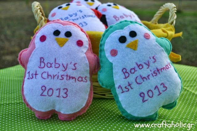 Felt Christmas ornament by Craftaholic