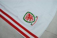 2016 Wales Soccer Team Euro Cup White Replica Soccer Shorts [C907]