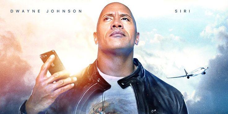 Apple socios w/ Dwayne 'La Roca' Johnson, para la nueva película co-protagonizada por Siri