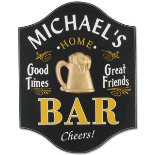 Personalized Bar Sign...this would look great in our basement bar!