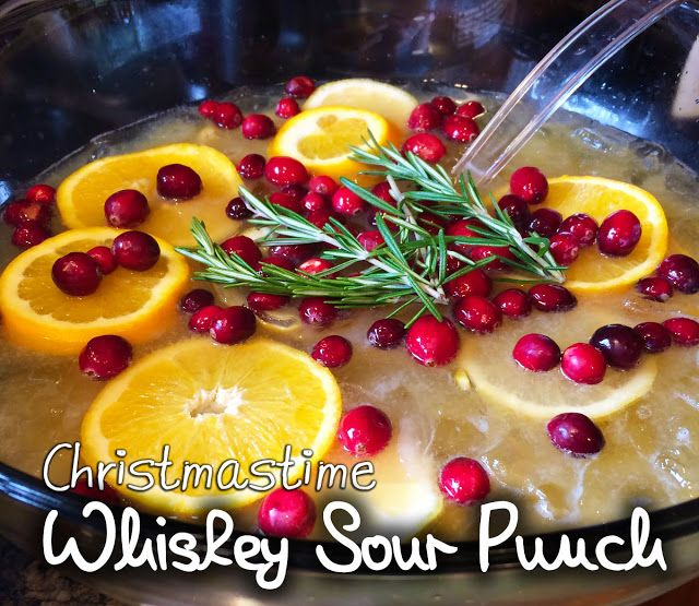 A Christmas Tradition: Whiskey Sour Punch - cocktail recipe handed down from my grandfather. Great for holiday parties!