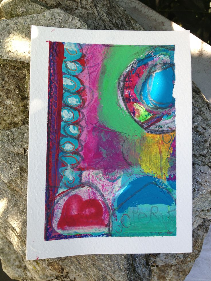 Acryls on paper - postcard size