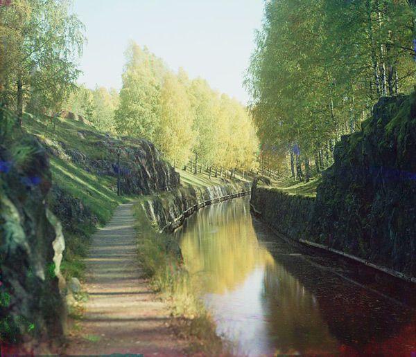 View from the Saimaa Canal near Lauritsala by Sergei Prokudin-Gorski (1903)