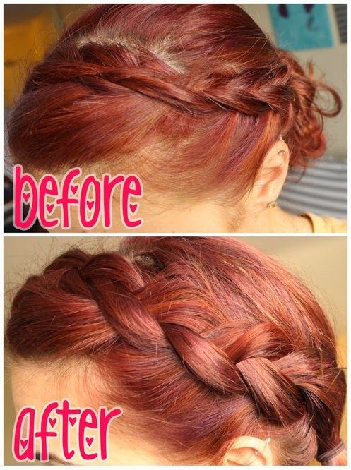 Everyone can have a great thick braid with this technique! Start with a Dutch braid and gently tug out the segments before securing. Video tutorial in the link!