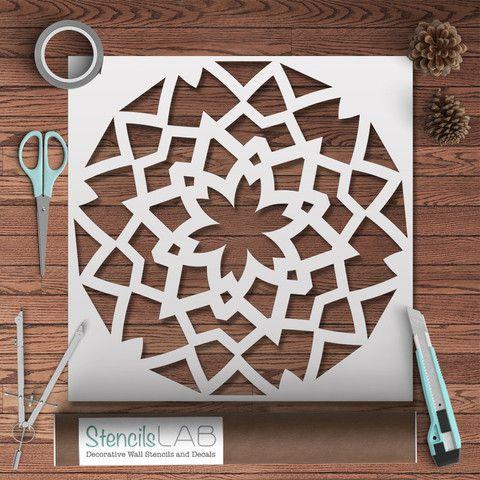 Mandala Style Stencil For Painting - Geometric Pattern Wall Stencil