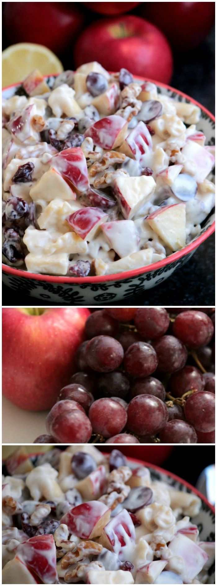 A dish of this Apple and Honey Pasta Salad from Big Bear's Wife will be come a quick favorite treat for you.