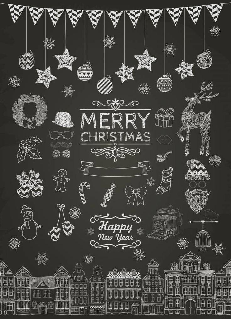 """Weihnachtskarte """"Weihnachten Kreide"""""""